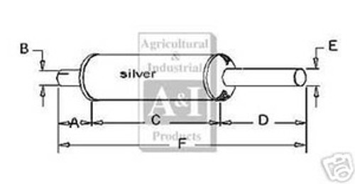 Muffler for Farmall H M several models