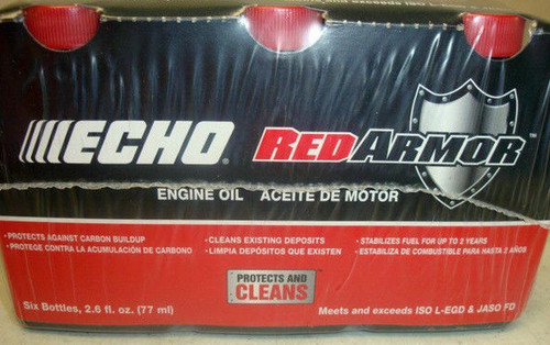 ECHO Red Armor 2 Cycle Oil 50:1 48 Pack 6550001 (Case of 8 6 packs)