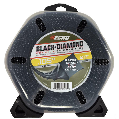 "ECHO 330105071 .105"" 1LB Black Diamond Trimmer Line 217'"