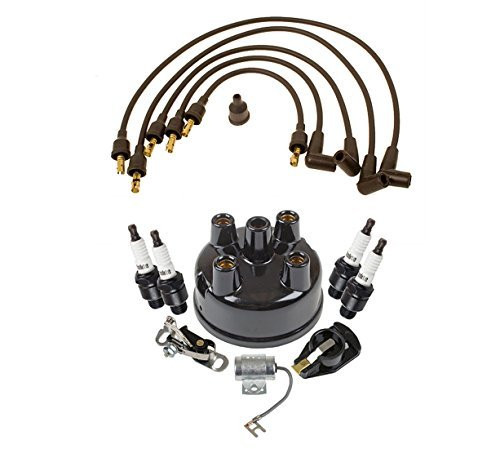 Ford 8N Tractor Complete Tune Up Kit and Ignition Wire Set 1950-1952 Bundle, Model: MTK7FARH/8N12259