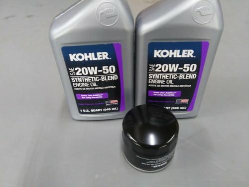 Kohler Oil Change Kit (2) SAE 20W50 Engine Oil & 1205001-S Oil Filter
