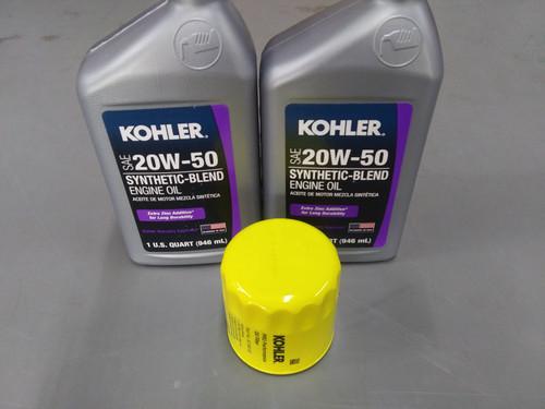 Kohler Oil Change Kit (2) SAE 20W50 Engine Oil & 5205001-S Oil Filter
