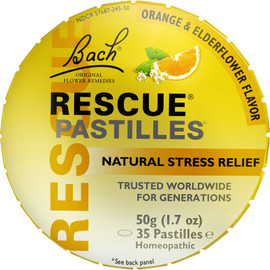 Rescue® Pastilles (Orange & Elderflower Flavor)