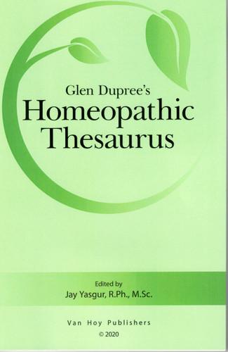 Glen Dupree's Homeopathic Thesaurus