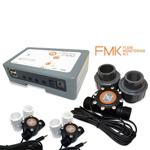 """Neptune Systems Flow Monitoring Kit (FMM, (2) FS-50, (4) 1/2"""" Adapters, (1) FS-100, (2) 1"""" union"""