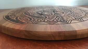 Total Personalisation on Timber - Rosewood & Oak Lazy Susan.     Colours vary.  size 700mm
