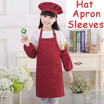 Kids Apron with Hat & Sleeves