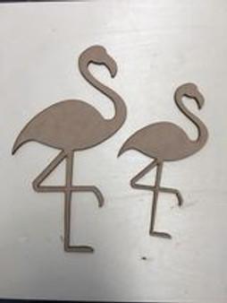 MDF Flamingo set of 2