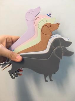 Acrylic Sausage Dogs