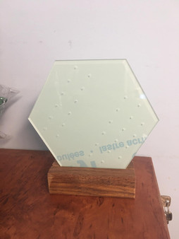 Hexagon Earring Holder With wooden base