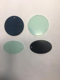 50mm Keyring round/ oval Acrylic