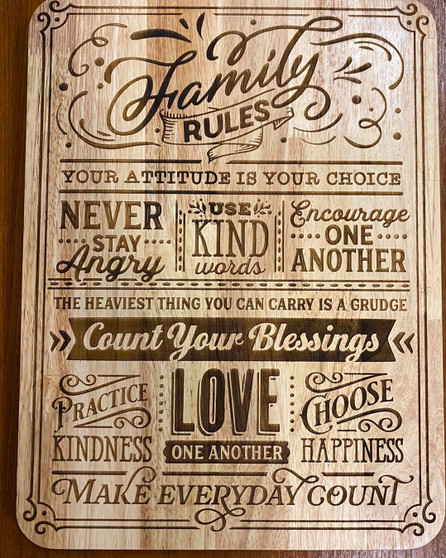 400 x 300 Family Rules & House Rules signs.