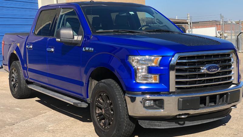 Gloss Berry Blue wrap by Executive Auto Detail Tulsa, OK tulsadetail.com
