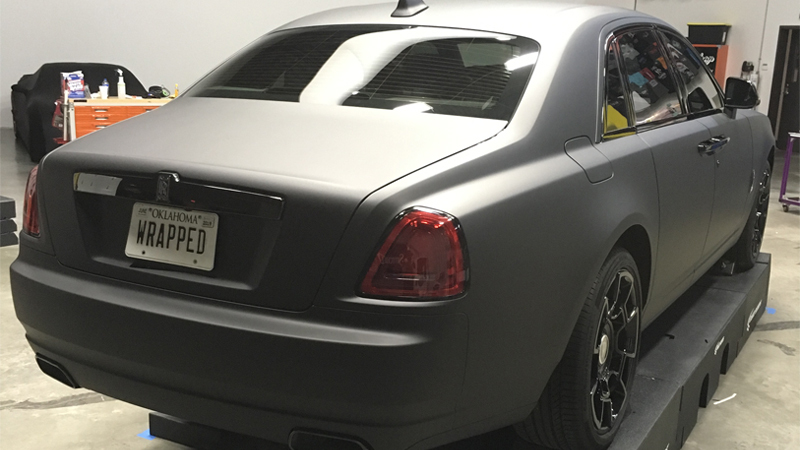 Matte Black and Gloss Black wrap by Car Wrap City in Carrollton, TX