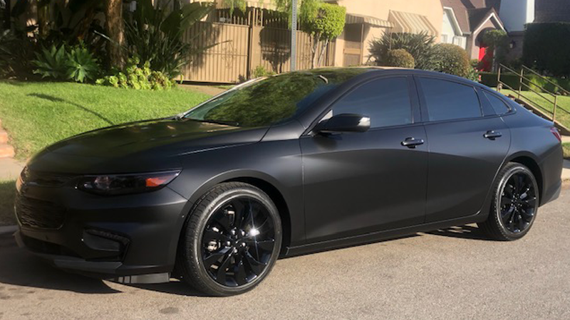 Satin Black wrap by @autocrtv, Los Angeles, CA