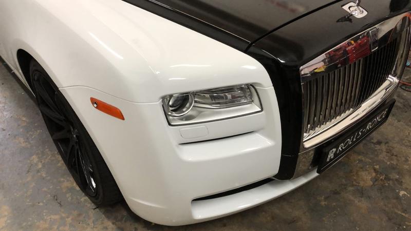Gloss White and Gloss Black wrap by Tread Marks in Doral, FL (@treadmarks_miami)