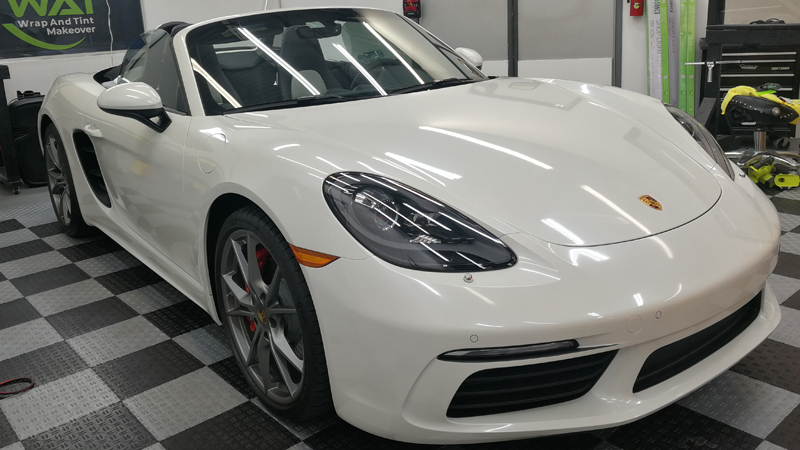 Gloss Pearl White wrap by @wrapandtintmakeover in Stuart, FL
