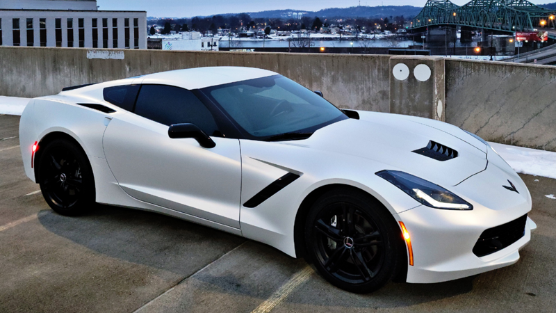 Satin Pearl White wrap by @procharged_c7vette
