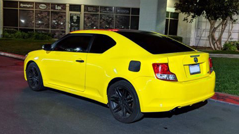 Gloss Bright Yellow Scion tC wrapped by Gator Wraps (gatorwraps.com)