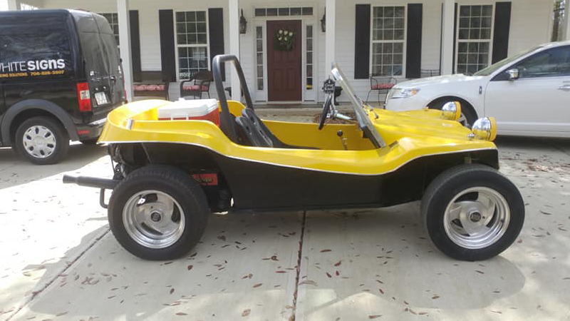 Gloss Bright Yellow buggy wrapped by Rob White Signs (robwhitesigs.com)