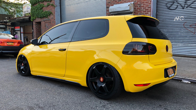 Gloss Bright Yellow wrap by Jonathan Zhirzhan in Richmond Hill, NY (@zg.wrap_concepts)