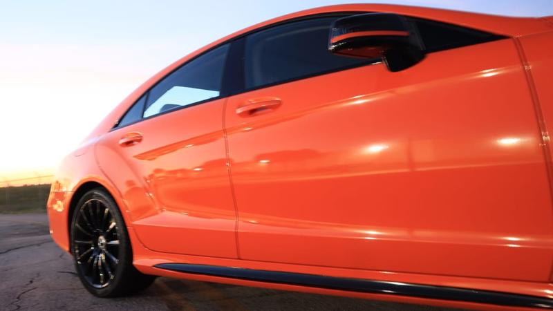 Gloss Orange wrap by Tread Marks in Doral, FL (@treadmarks_miami)