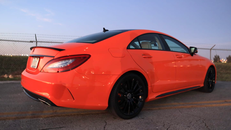 Gloss Orange wrap by Tread Marks in Doral, FL (@treadmarks_miami)