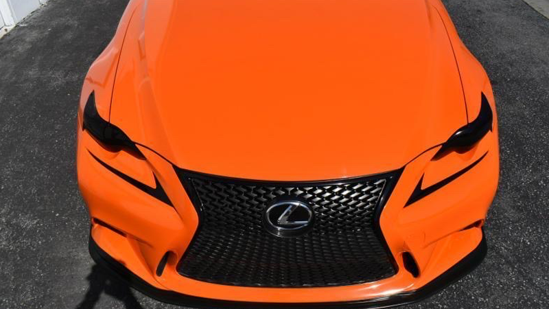 Gloss Orange wrap by Michael Reyes in Montebello, CA (@slimrworks)