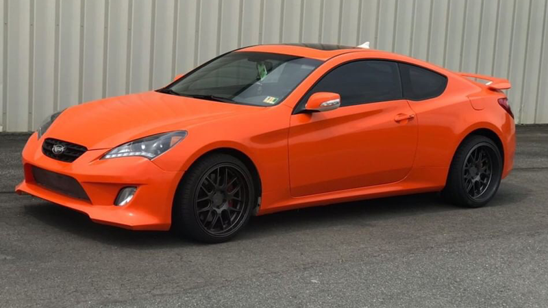 Gloss Orange wrap by Lavish Auto Wraps, Fredericksbury, VA