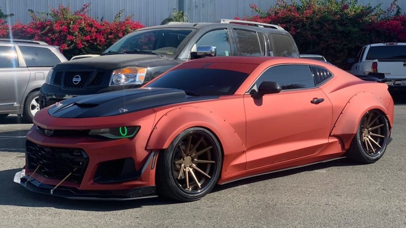Satin Red Aluminum wrap by Selective Coatings in Los Angeles, CA