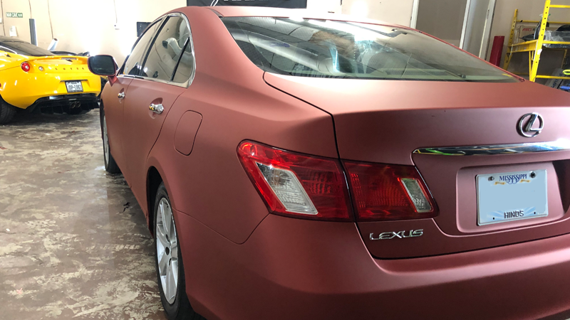 Satin Red Aluminum wrap by A to Z Wraps in Garland, Texas (dallaswraps.com)