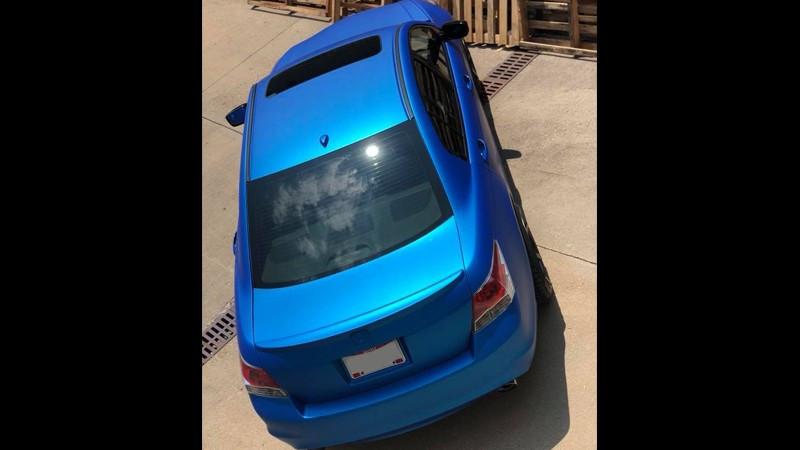Satin Blue Aluminum wrap by Vivid Wraps in Cincinnati (wrapscinci.com)