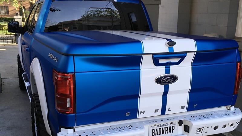 Satin Blue Aluminum wrap by LE Wraps in Oklahoma City (lewraps.com)