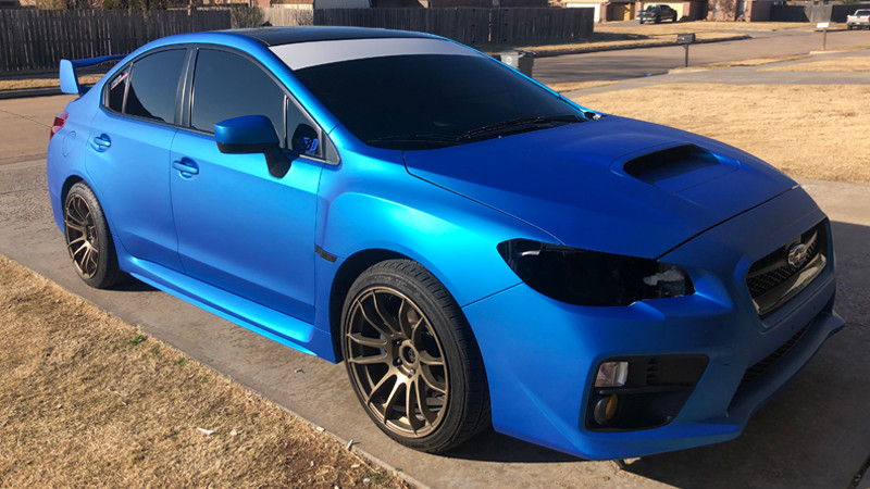Satin Blue Aluminum wrap by FSM Auto Restyling in Lawton, OK