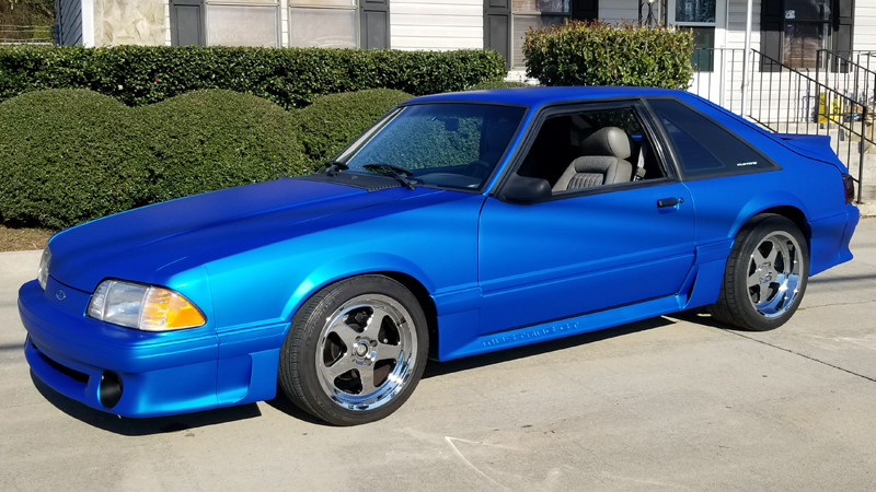 Satin Blue Aluminum wrap by Chip Kersey.