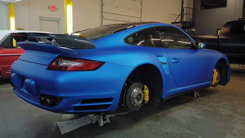Satin Blue Aluminum wrap by Sterling Customs in Commerce City, CO (@sterlingcustoms)