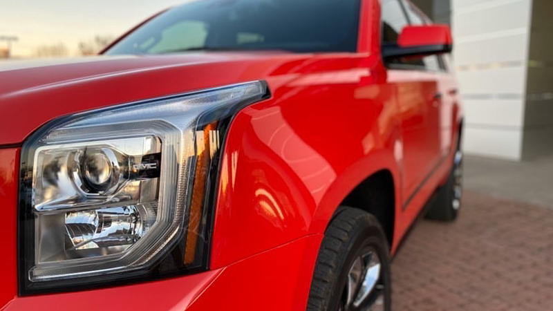 Gloss Carmine Red wrap by Vinyl Solutions in Fort Worth, TX (@Vinyl_solutionsdfw)