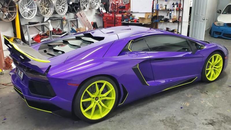 Gloss Passion Purple wrap by Tread Marks in Doral, FL (@treadmarks_miami)
