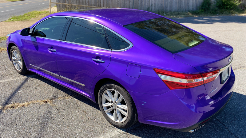 Gloss Passion Purple wrap by Sticky Franchise in Memphis, TN