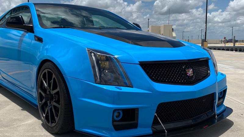 Gloss Light Blue wrap by Tyler Pham @phamspec in Hollywood, FL