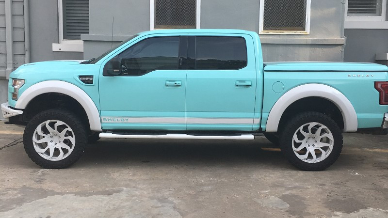 Wrapped in CheetahWrap Gloss Mint Blue by LE Wraps in Oklahoma City (lewraps.com)