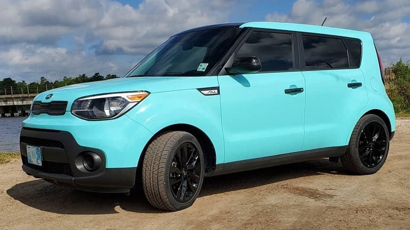 Wrapped in CheetahWrap Gloss Mint Blue by Collin Henning (@henningcollin_lcwrapz)