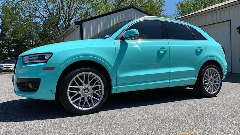 Gloss Mint Blue wrap by @crucialwraps in Dover, PA