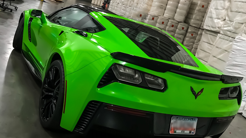 Gloss Grass Green wrap by Shawn West