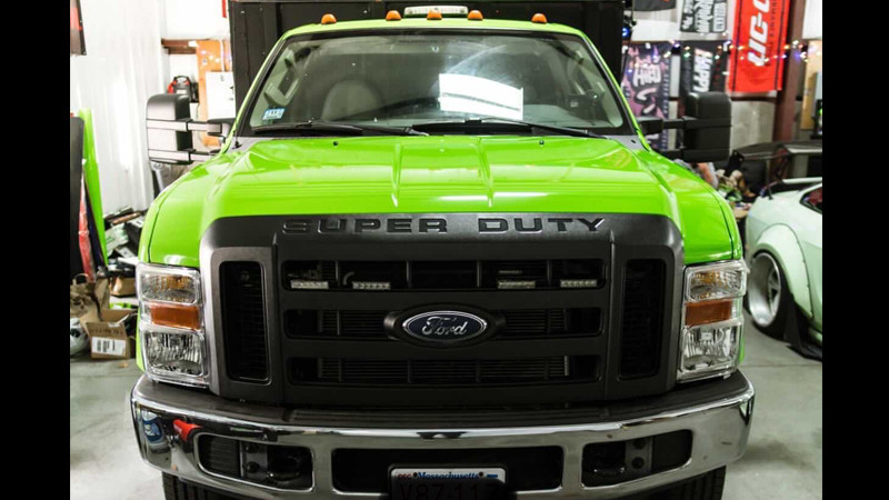 Gloss Grass Green wrap by @rdmautostyling in Beverly, MA