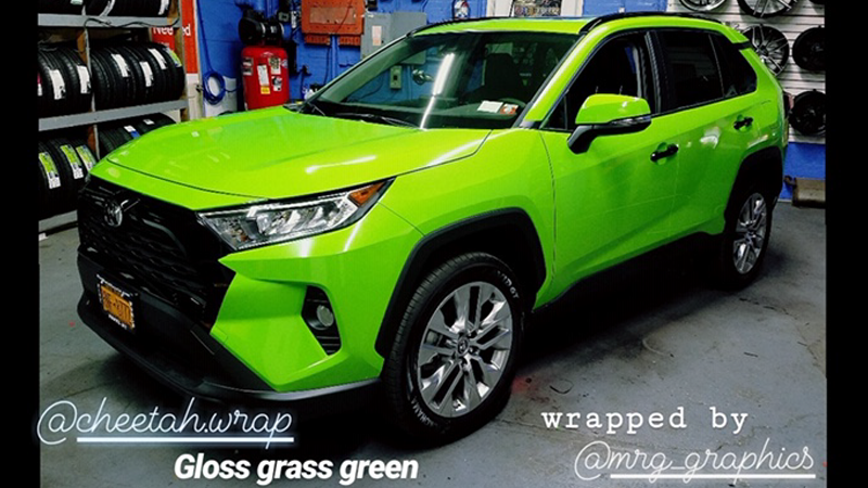 CheetahWrap Gloss Grass Green wrapped by Mr. G Graphics  Bronx, NY