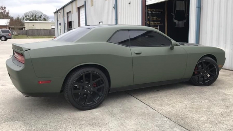 Wrapped in CheetahWrap Matte Military Green by A2D Auto Films in Marrero, Louisiana (a2dautofilms.com)
