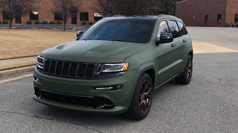 Matte Military Green wrap by Top Car Wraps Inc. (@topcarwraps) in Suwanee, GA