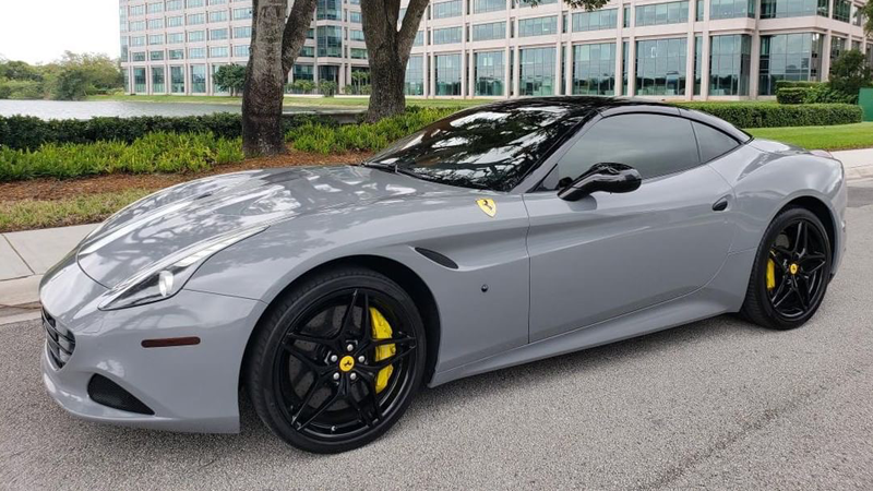 Gloss Nardo Gray wrap by LT Auto Salon in  Miami, FL