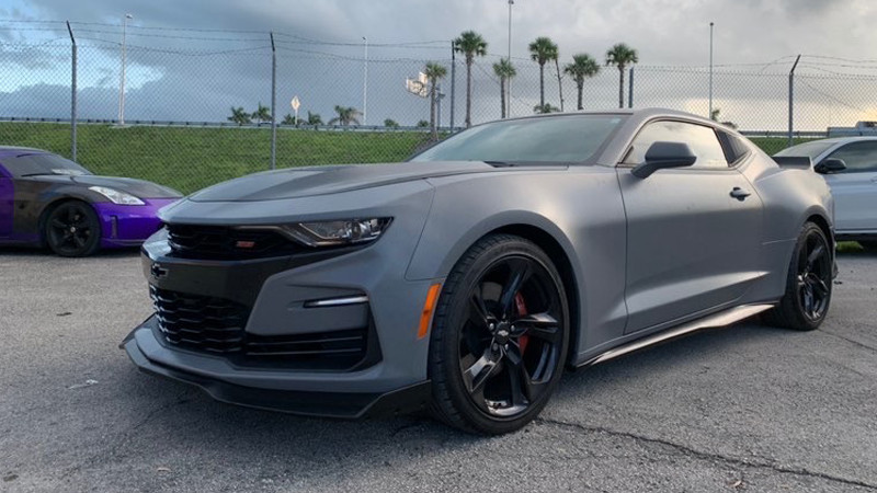 Satin Nardo Gray wrap by Kleen Kustoms in Miami, FL (@kleenkustoms)